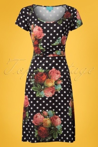 Lalamour Black Polkadot Floral Dress 102 14 23684 20180416 0001W