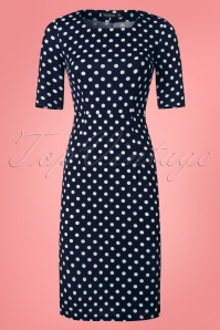 Mikarose The Vickie Polkadot Pencil Dress 100 39 25816 20180416 0001w