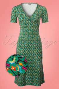 Wow To Go! Krista Parrot Dress in Green 102 49 22868 20180406 0001wv