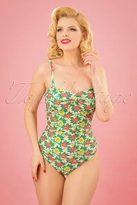 King Louie Emma Bathingsuit Flowers 161 57 23024 01w