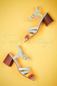 60s Harper Block Heel Sandals in Mint