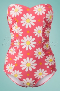 Dancing Days by Banned Pink Floral Swimsuit 161 27 24242 20180425 0005w