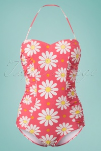 Dancing Days by Banned Pink Floral Swimsuit 161 27 24242 20180425 0004w