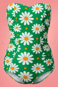 Dancing Days by Banned Green Swimsuit with Flowers 161 49 24243 20180425 0003w