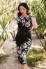 Vintage Chic Aloha Pencil Dress in Black 100 14 19256 20160606 0007W