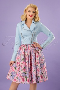 Collectif Clothing Dolores Candy Stripes Top 23635 20171120 01W
