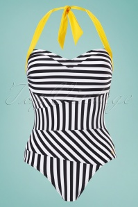Tweka Striped Beach Swimsuit 161 14 23138 2W