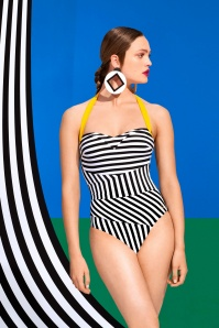 Tweka Striped Beach Swimsuit 161 14 23138 1
