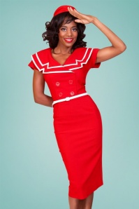 Tatyana Captain Pencil Dress Red 100 20 24865 20180420 3