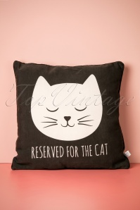 Reserved For The Cat Cushion Années 60