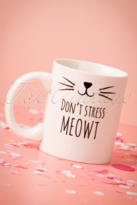 Sass & Belle 60s Don't Stress Meowt Mug