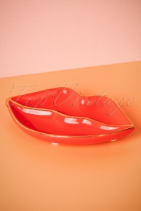 50s Patches and Pins Lips Trinket Dish