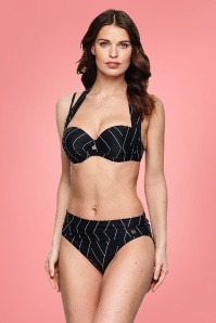TC WOW Strapless Padded Multiway Bikini in Black and White 163 14 23144 3