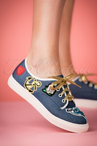 50s Portland Patch Sneakers in Blue