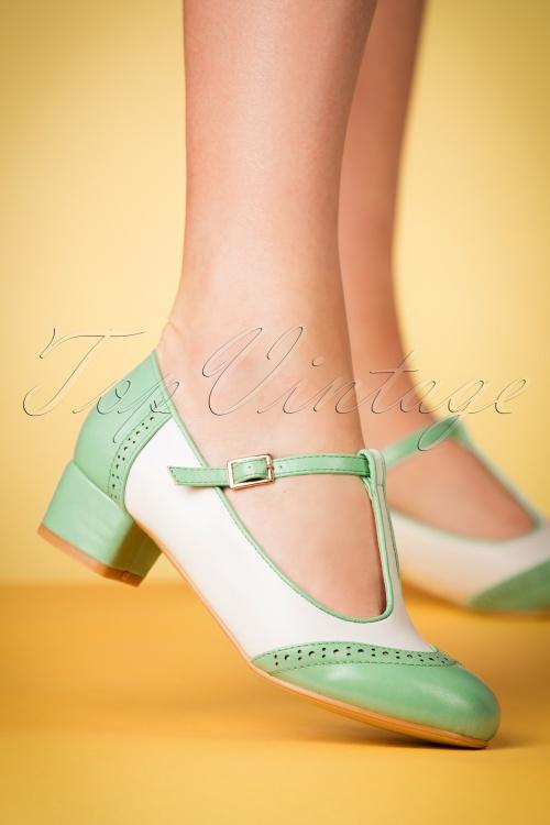 c5a3223107ef Lulu Hun Georgia Mint Block Heel Shoes 401 40 23791 25042018 001w