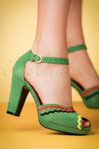 Lulu Hun Lorena Pumps in Green 403 40 23782 25042018 003w