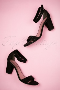 Tamaris Black Velvet Sandals 402 10 23432 26042018 009W