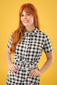 Collectif Clothing Sammy Vintage Gingham Tie Blouse 22811 20171121 1W