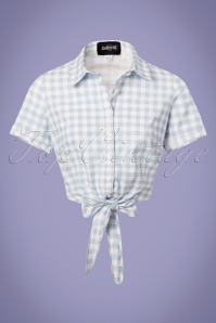 Collectif Clothing Sammy Vintage Gingham Tie Blouse 22812 20171121 0006W