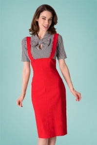 Tayana Red Dungarees Skirt 120 20 24682 20180420 0005