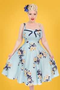 Hearts and Roses Light Blue Daisy Swing Dress 102 39 24552 20180503 01