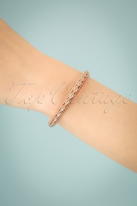 50s Elizabeth Bracelet in Dusty Pink
