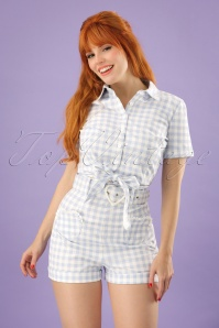 Collectif Clothing Lisa Vintage Gingham Shorts 130 39 22849 20180503 2W