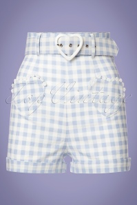 Collectif Clothing Lisa Vintage Gingham Shorts 130 39 22849 20180503 0001W
