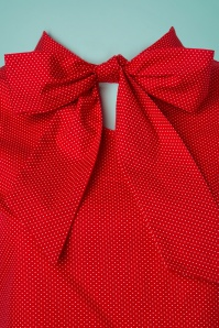 Retrolicious Red Polkadot Top with Bow 112 27 25704 20180412 0002W