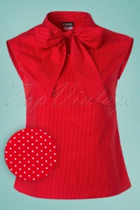 Retrolicious Red Polkadot Top with Bow 112 27 25704 20180412 0001W1