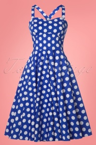 Sheen Eloise Dress Blue Polkadot Swing 102 39 23942 20180503 0015W