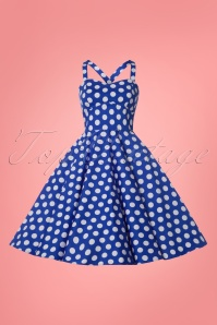 Sheen Eloise Dress Blue Polkadot Swing 102 39 23942 20180503 0003W