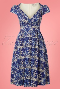 Lindy Bop Floral Blue Dress 102 59 25794 20180503 0002W