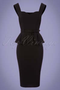 Collectif Clothing Mae Pencil Dress in Black 22840 20171120 0002W
