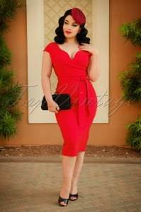 2 Vintage Diva The Oh So Curvy Dress in Bright Red 20878 20170126 2W