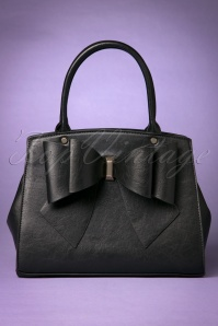 The Big Bow Handbag Années 50 en Noir
