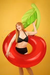 50s Inflatable Cherry Pool Ring