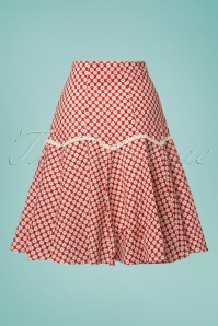 Banned Ditsy Daisy Red Skirt 122 27 26011 20180503 0008W
