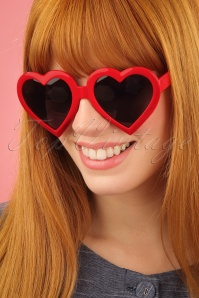 Glamfemme Heart Sunglasses in Red 260 20 25813 2W