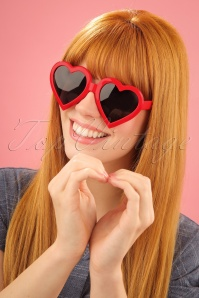 Glamfemme Heart Sunglasses in Red 260 20 25813 1W