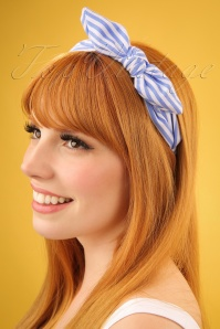 Darling Divine Blue Striped Headband 208 39 24692 09052018 01W