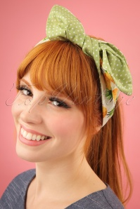 Be Bop A Hairbands White Pineapple Hairband 25473 2W