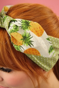 Be Bop A Hairbands White Pineapple Hairband 25473 1W