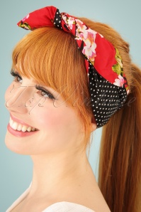 Be Bop A Hairbands Red Sherry Blosson Hairband 208 27 25470 1W