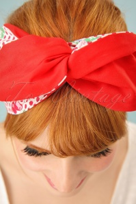 Be Bop A Hairbands Red Polka Cherry Hairband 208 27 25472 3W