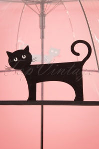 So Rainy Plastic Cat Umbrella 25643 4W