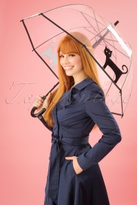 So Rainy Plastic Cat Umbrella 25643 1W