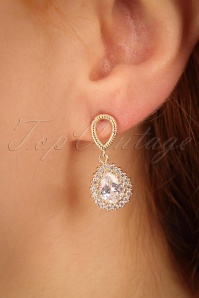 Vivia Classic Diamond Earrings Années 50 en Doré