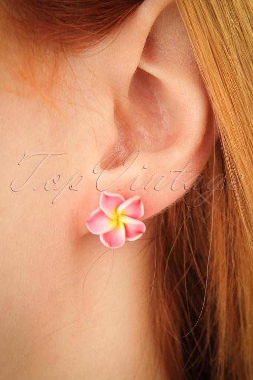 Glitz o Matic Pink Flower Earrings 330 22 24919 09052018 02W