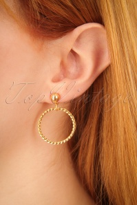 Glitz o Matic Golden Hoop Earrings 333 91 24941 09052018 02w